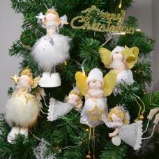 圣诞树挂饰白色天使图片