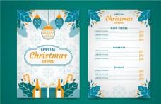 圣诞节主题菜单矢量模板图片