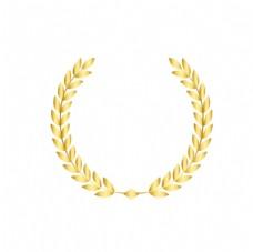 矢量手绘金色橄榄枝图片