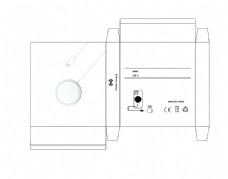 无线充包装设计白色简约图片