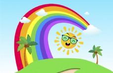 彩虹彩色背景图片
