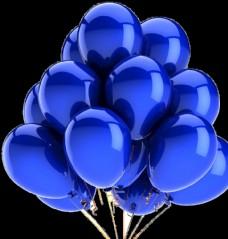 免扣蓝色气球图片