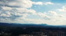 城市云层延时摄影