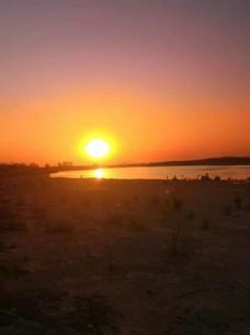 黄河日落图片