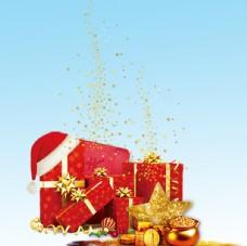 红色节日礼盒图片