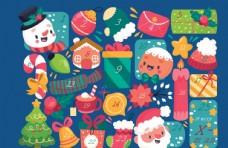 创意圣诞月日历模板设计图片