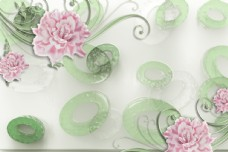 花卉背景墙图片