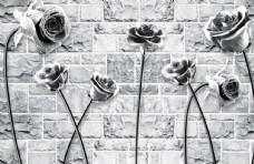 黑白玫瑰图片