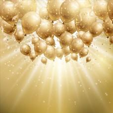 节日气球和光晕图片
