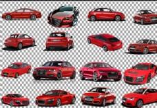 红色奥迪车图片