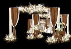 韩式咖啡色婚礼图片