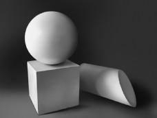 手绘石膏组合体图片
