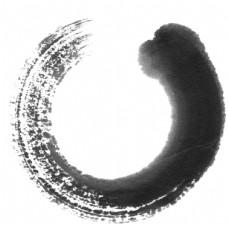 环形墨染图片