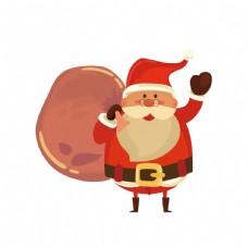彩色扁平化圣诞老人图片