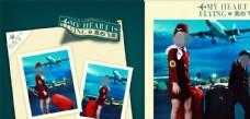 宽幅儿童周岁纪念册PSD模板图片