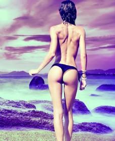 健身女人图片
