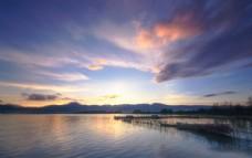 滇池湖泊图片