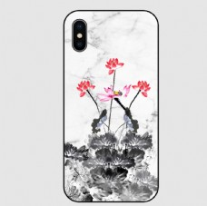 中国风水墨荷花手机壳图片