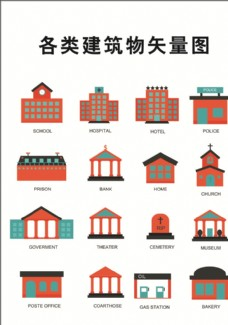 各类建筑物矢量图图片