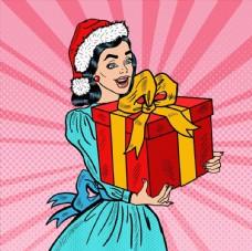 圣诞节送礼图片