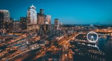 城市剪影缤纷城市彩色城市图图片