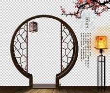 拱形门中式图片
