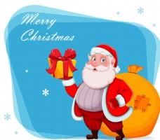 背着口袋的圣诞老人图片