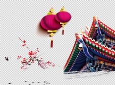 梅花灯笼穹顶图片