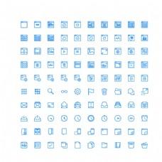100个基础界面UI图标图片