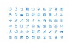 60个办公UI图标图片