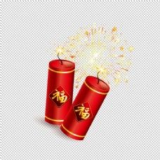 鞭炮爆竹新年喜庆元素PNG图片