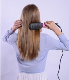 梳头发梳子长发干法梳图片