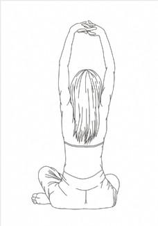 瑜伽背影图片