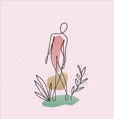 简笔抽象女人图片