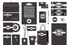 企业VI设计黑色图片