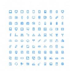 100个设备网络UI图标图片