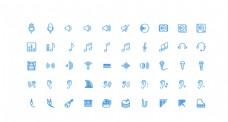 50个音乐UI图标图片