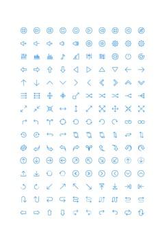 150个箭头导航UI图标图片