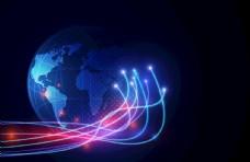 抽象科技背景图片光纤EPS素材