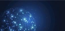 全球网络科技点线连接EPS矢量图片