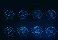 plexus地球点线风格EPS图片