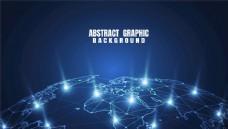 抽象背景图片蓝色科技EPS
