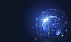 点线联接地球通讯通信科技图片