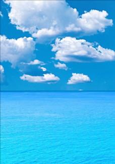 大海蓝天图片