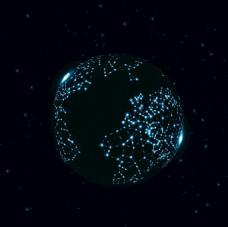 点状地球高科技EPS模板素材图片