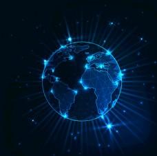蓝色未来科技通讯技术EPS图片