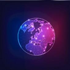 地球EPS模板全球化抽象图片