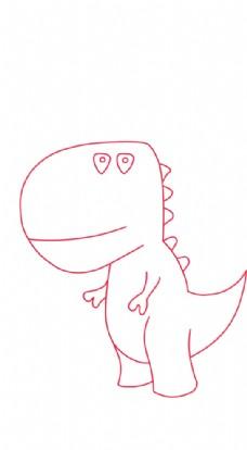 简笔恐龙图片