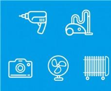 风扇相机吸尘器电钻电暖图标图片
