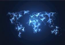 世界全球网络连接EPS矢量图片